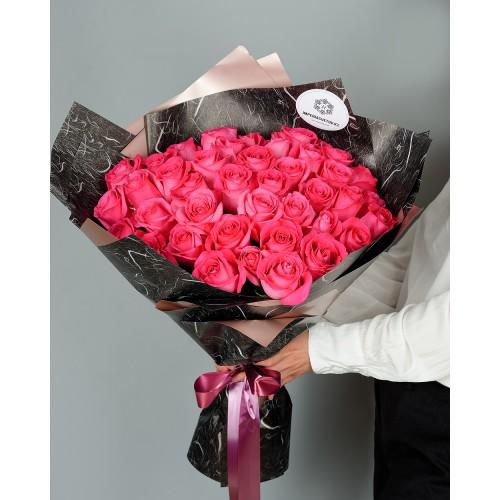 Купить на заказ Букет из 51 розовых роз с доставкой в Аксу